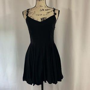 Kimchi Blue Babydoll Lace Up back Dress Medium